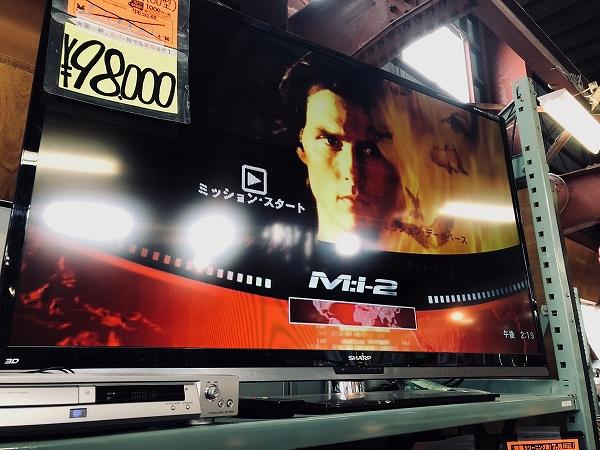 シャープ 60型液晶TV入荷しました。大型テレビ買取ます!