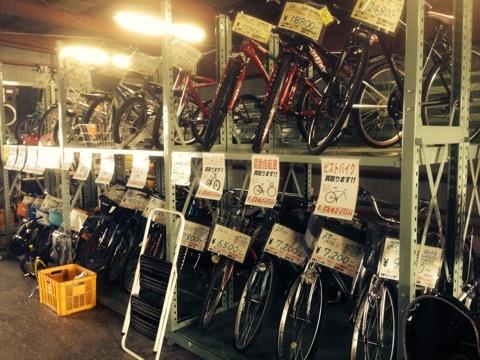 2階の自転車