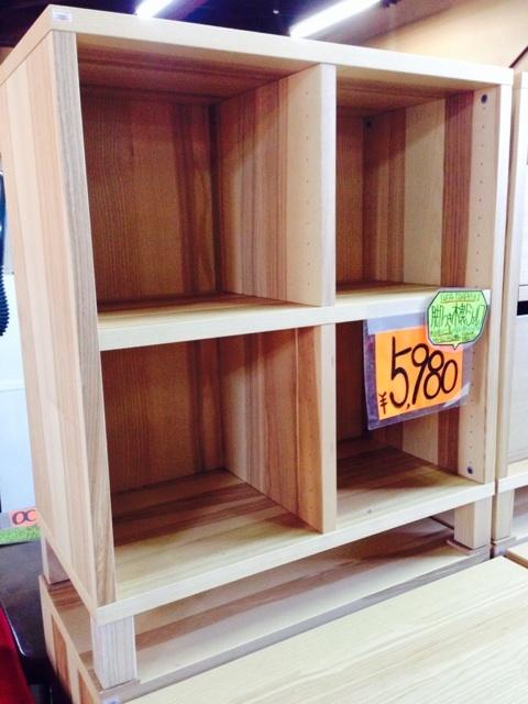 イケア家具木製シェルフ