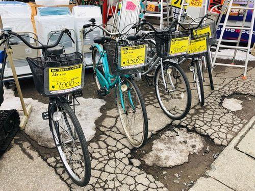 中古自転車!お得なママチャリ売ってます!