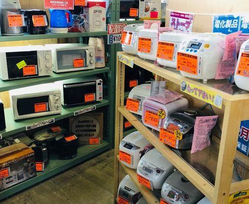 新生活用の小型家電もビッシリ!電子レンジ、炊飯ジャー、掃除機など