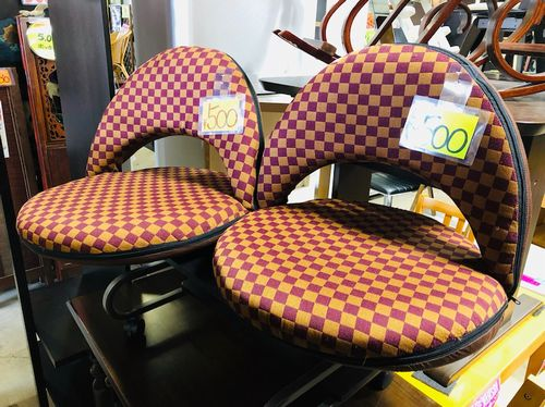 市松模様の座椅子が安い! 青森市のリサイクルショップ・ボンバー